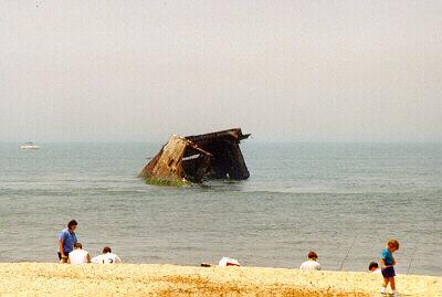 The wreck of the S.S. Atlantus off Cape May Point