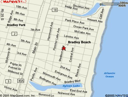 Bradley Beach Map